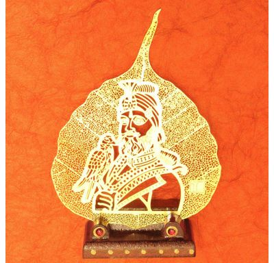 Gold plated leaf Guru Gobind Singh