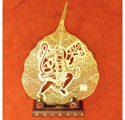 Gold plated leaf Hanuman Ji