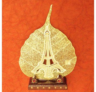 Gold plated leaf Eiffel Tower