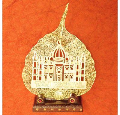 Gold plated leaf Taj Mahal