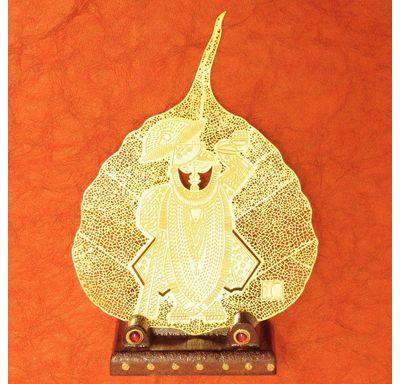 Gold plated leaf Shrinath Ji