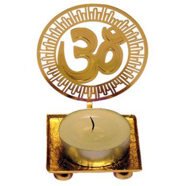Shadow Diya Om Sign (Round)