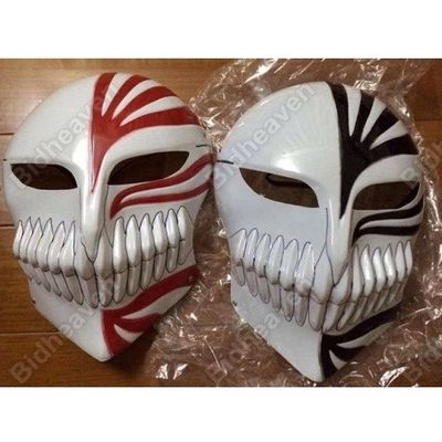 Bleach Hollow Ichigo Kurosaki Full Face PVC Mask - 2 Pcs Set