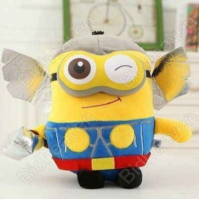 Despicable Me Cosplay Minions Bob Dave Thor Plush Doll
