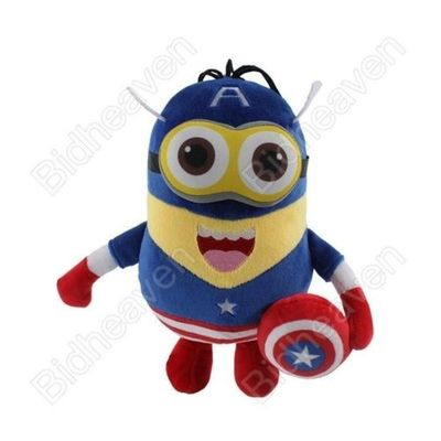 Despicable Me Cosplay Minions Captain America Plush Doll