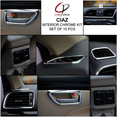 Kmh Interior Kit For Ciaz Set Of 10 Pcs Chrome