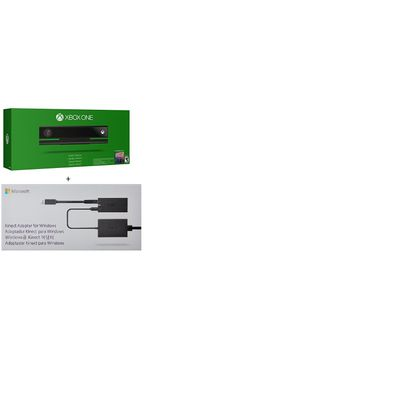 100% Official Xbox One Kinect Sensor + kinect adapter for windows cabel as  shown