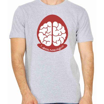 Buddivantarige Matra Grey Color Round Neck T-Shirt