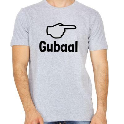 Gubaal Grey Colour Round Neck Kannada T-shirt