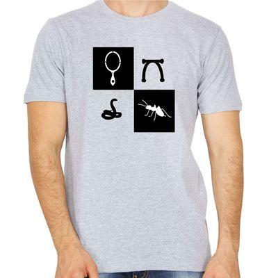 Kannadiganagiruve Grey Colour Round Neck Kannada T-shirt