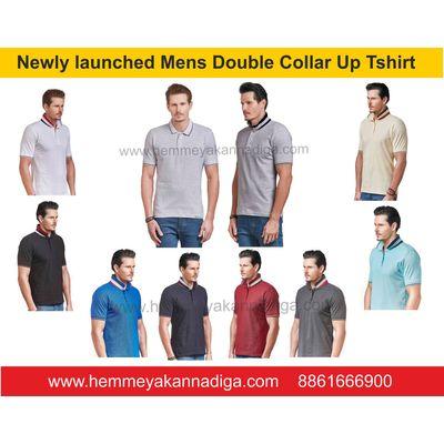Mens  Collar up Tshirts   | Customized t-shirts for rajyotsava