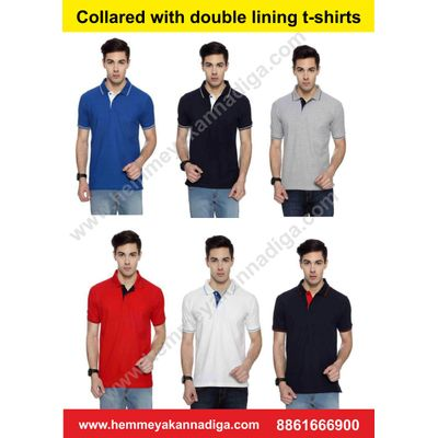 Mens  Double Tipping  Tshirts   | Customized t-shirts for rajyotsava