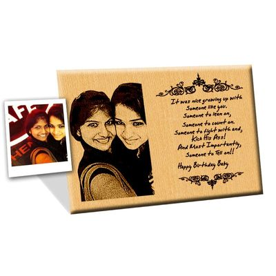 Photo engraved Wooden Plaque 10x8-Medium