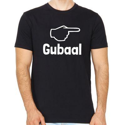 Gubaal Black Colour Round Neck Kannada T-shirt