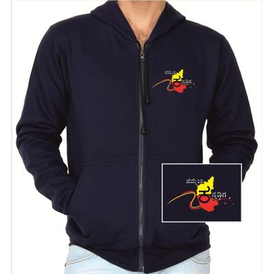 Hemmeya kannadiga navy blue colour sweatshirt withzip