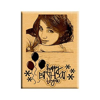 Photo engraved Wooden Plaque 6x8-small