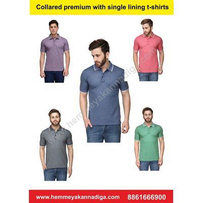 Premium Mens Single Tipping | `Customized t-shirts for rajyotsava