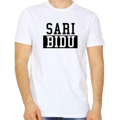 Sari Bidu White Colour Round Neck Tshirt