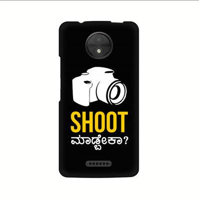 Shoot Madbeka Premium Printed Case For Moto C