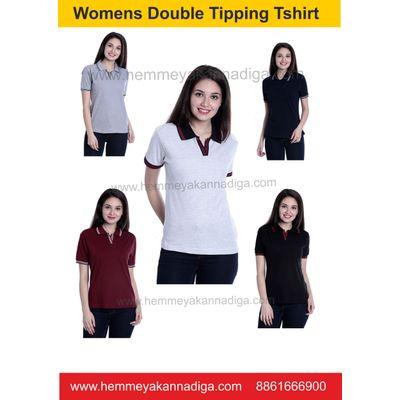 Women  Double Tipping  Tshirts   | Customized t-shirts for rajyotsava