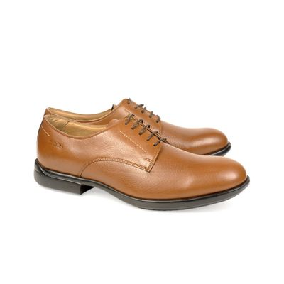 Leatherplus Tan Semi-formal Lace up Shoes for Men (12111)