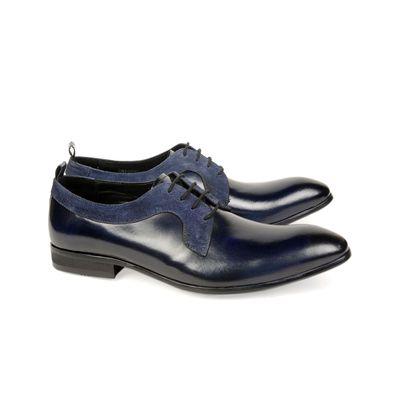Leatherplus Blue Party wear Lace up Shoes for Men (12119)