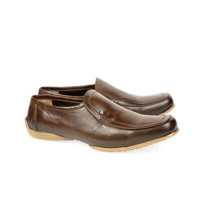 Leatherplus Brown Casual Slip on Shoes for Men (12125)