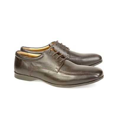 Leatherplus Brown Formal Lace up Shoes for Men (12140)