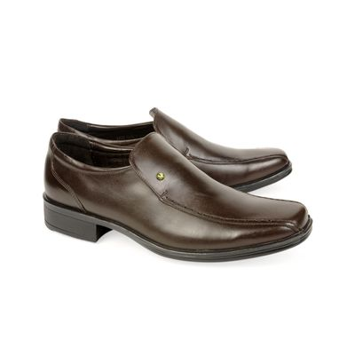 Leatherplus Brown Formal Slip on Shoes for Men (12157)
