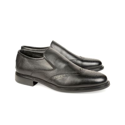 Leatherplus Black Semi-formal Lace up Shoes for Men (12185)