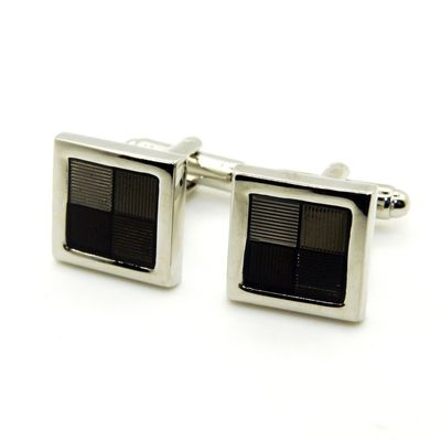 Black Color Enamel Cufflinks (150132)