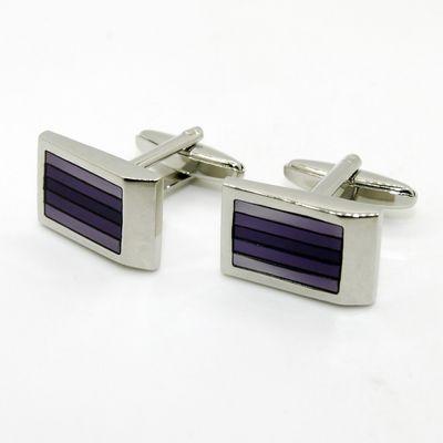 Purple Polor Enamel Cufflinks (150166)