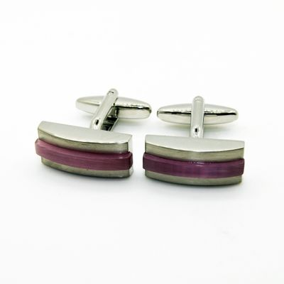 Glass Cat Eye Stone Cufflinks (150602)