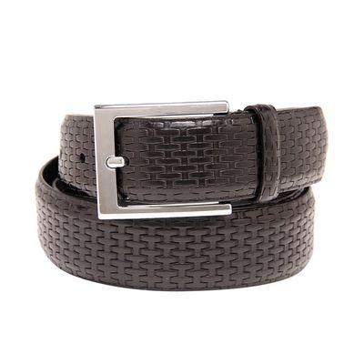 Leatherplus Black Belt for Men(C-205)
