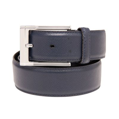 Leatherplus Blue Belt for Men(saffiano)