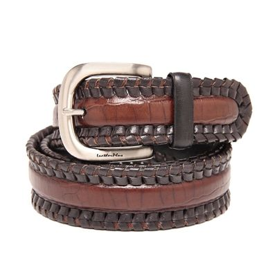 Leatherplus Brown Belt for Men(C-151)