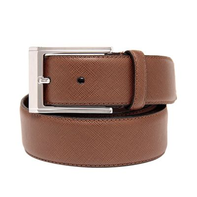 Leatherplus Tan Belt for Men(saffiano)