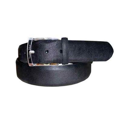 Leatherplus Black Belt for Men(C-103)