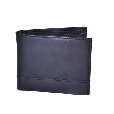 Leatherplus Black Wallet for Men(2078)