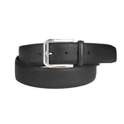 Leatherplus Black Belt for Men(IT-151)