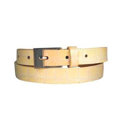 Leatherplus Beige Belt for Women(LB-13)