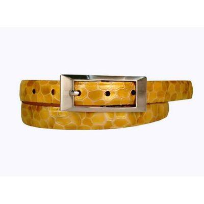 Leatherplus Yellow Belt for Women(LB-06)