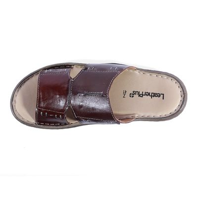 Leatherplus Brown  Slipon Sandal  for Men (12314B)