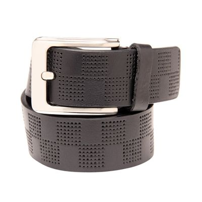 Leatherplus Black Belt for Men(C-594)