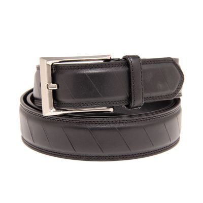 Leatherplus Black Belt for Men(C-1550)
