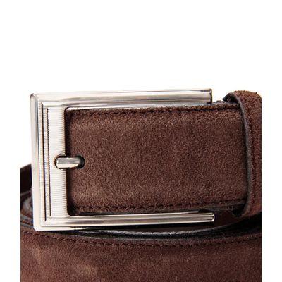 Leatherplus Brown Belt for Men(suede)