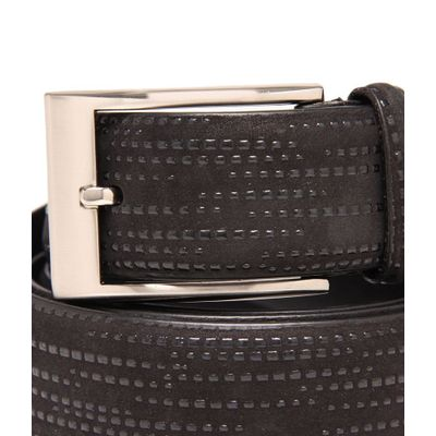 Leatherplus Black Belt for Men(C-213)