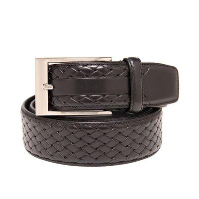 Leatherplus Black Belt for Men(C-11)