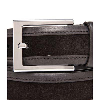 Leatherplus Black Belt for Men(C-1523)