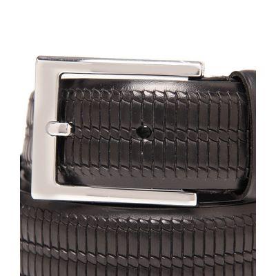 Leatherplus Black Belt for Men(C-52)